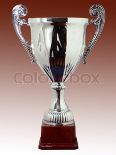 Classic Silver Sports Cup on the basis of the brown