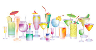 set of cocktails