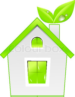 Green house icon. Ecology concept. Vector eps10 illustration
