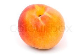 Juicy nectarine on a white background