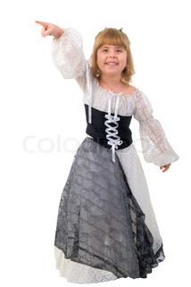 beautiful little girl in a fairy kost m stock foto colourbox. Black Bedroom Furniture Sets. Home Design Ideas