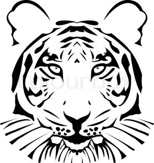the vector abstract tiger head eps 8