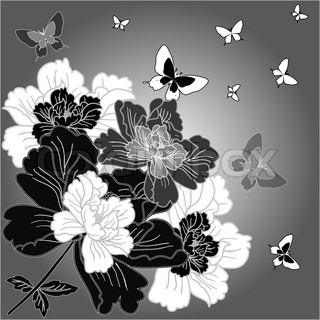 eps10 background with fantasy hand drawn flowers