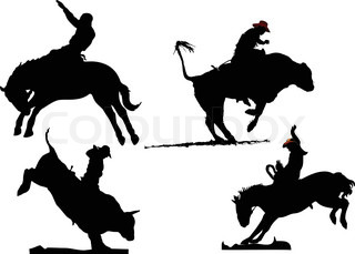 Rodeo silhouettes