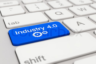 keyboard - industry - 4.0 - blue