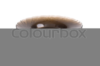 stack of brown plates isolated on a white background