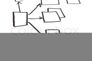 block diagram  isolated on a white background