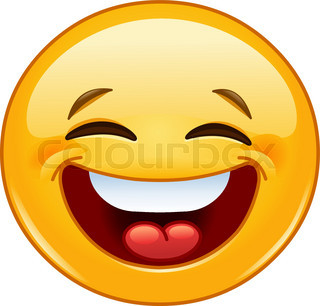 Emoticon with evil laugh | Vector | Colourbox