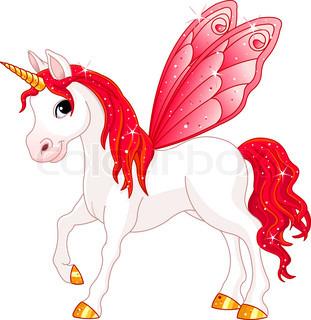 Red Cute geflügelten Pferd der Fairy Tail.