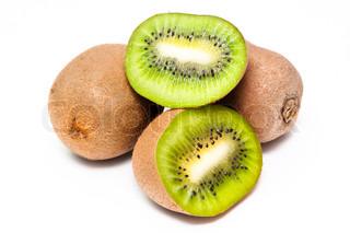 Bunke af modne saftige frugt af en kiwi
