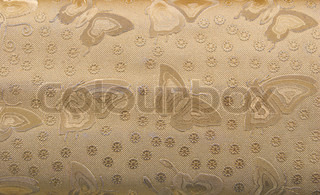 Gold Glow Embossed Butterfly Background. Repeating Texture.