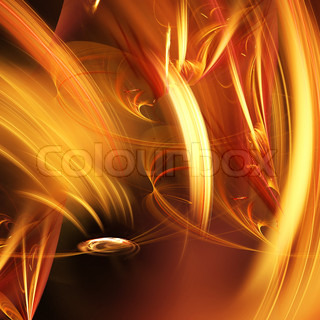 Abstract elegance background. Orange - yellow palette. Raster fractal graphics.