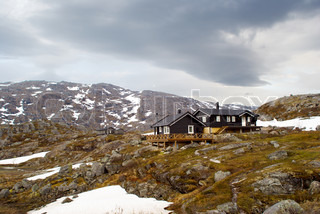 Cottage on the high mountain of Norway