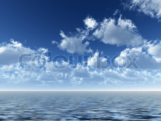 ocean and sky. Cloud - high resolution image