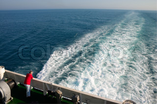 alone man aboard a cruise liner