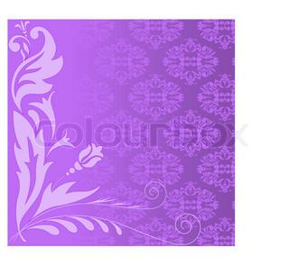 lilla plante sammensætning på baggrund af en lilla ornament