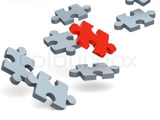 Puzzle 3d stock photo colourbox for Peculiarity crossword clue