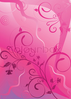 filial er lyserød med en honningurt og spiraler på en abstroktnom baggrund