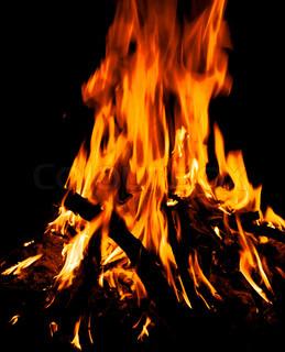 Bonfire on a black background