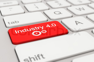 keyboard - industry - 4.0 - red