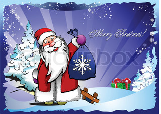 Greeting card for Christmas and happy New Year. Vector