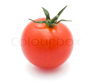 Frische Tomaten isoliert auf weißem Hintergrund