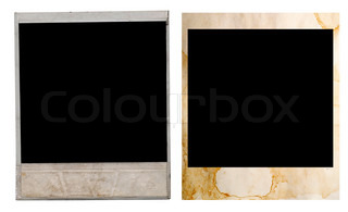 polaroid rahmen auf wei em hintergrund stock foto colourbox. Black Bedroom Furniture Sets. Home Design Ideas