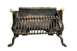 Fireplace Grate Old Antique