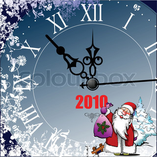 Christmas and Happy New Year Illustration. Vector
