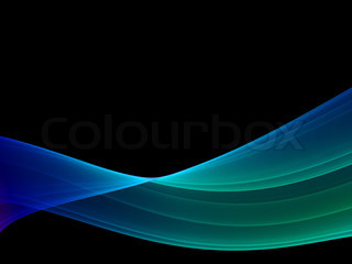mystical wave - multicolored high quality render, black background