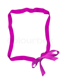 pink ribbon bow frame with copy space for your text