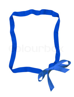 blue ribbon bow frame with copy space for your text