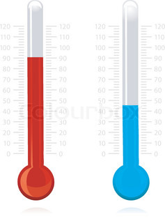 illustration of vector thermometer on isolated background