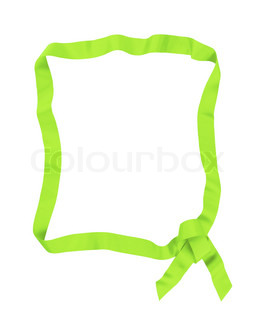green ribbon bow frame with copy space for your text