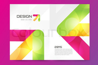 Abstract brochure or flyer design template. Book design, blank ...