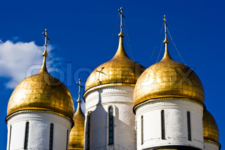 Domes of the Dormition Cathedral, Moscow Kremlin