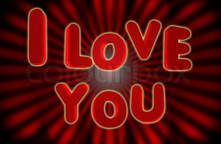 background with the words I love you