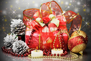 gifts and other Christmas decorations