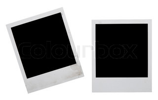 polaroid frames isolated on white