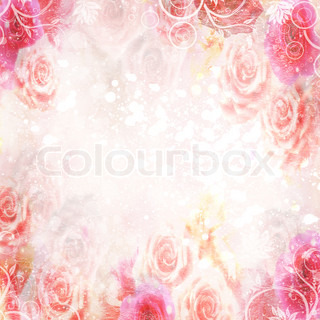 abstract roses background in pink colores wit spase for text or photo