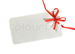 Tag with Ribbon. Ready for your message.