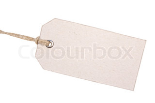 Old Cardboard Tag Isolated on White Background