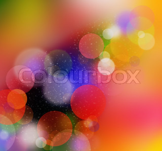 blurred colored light background