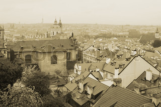 Prague roof tops, Czech Republic