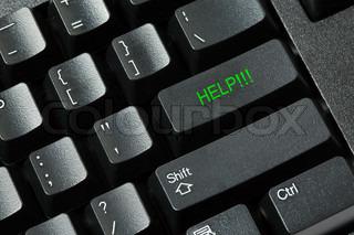 Sort computerens tastatur isoleret på hvid baggrund