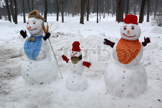 The winter to play good time for children