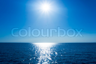 Beautiful calm sea and shining summer sun