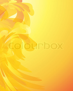 Abstrakt blomster baggrund med plads til din tekst