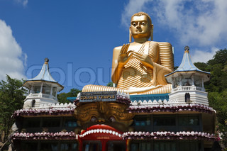 Gold Buddha. Golden Temple, Dambulla, Sri Lanka
