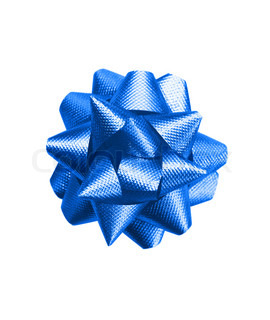 gift dark blue bow isolated on white background
